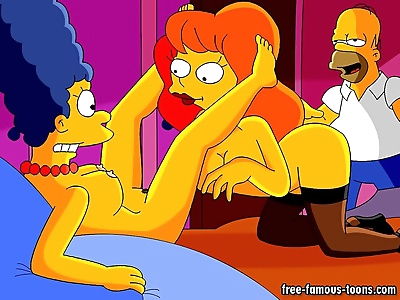 Famous toons homer and marge..