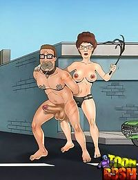 Unlucky toon dom gets trampled by slavegirl - part 3849