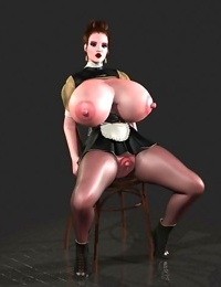 Huge breasted 3d toon shows tits and puffy pussy - part 351